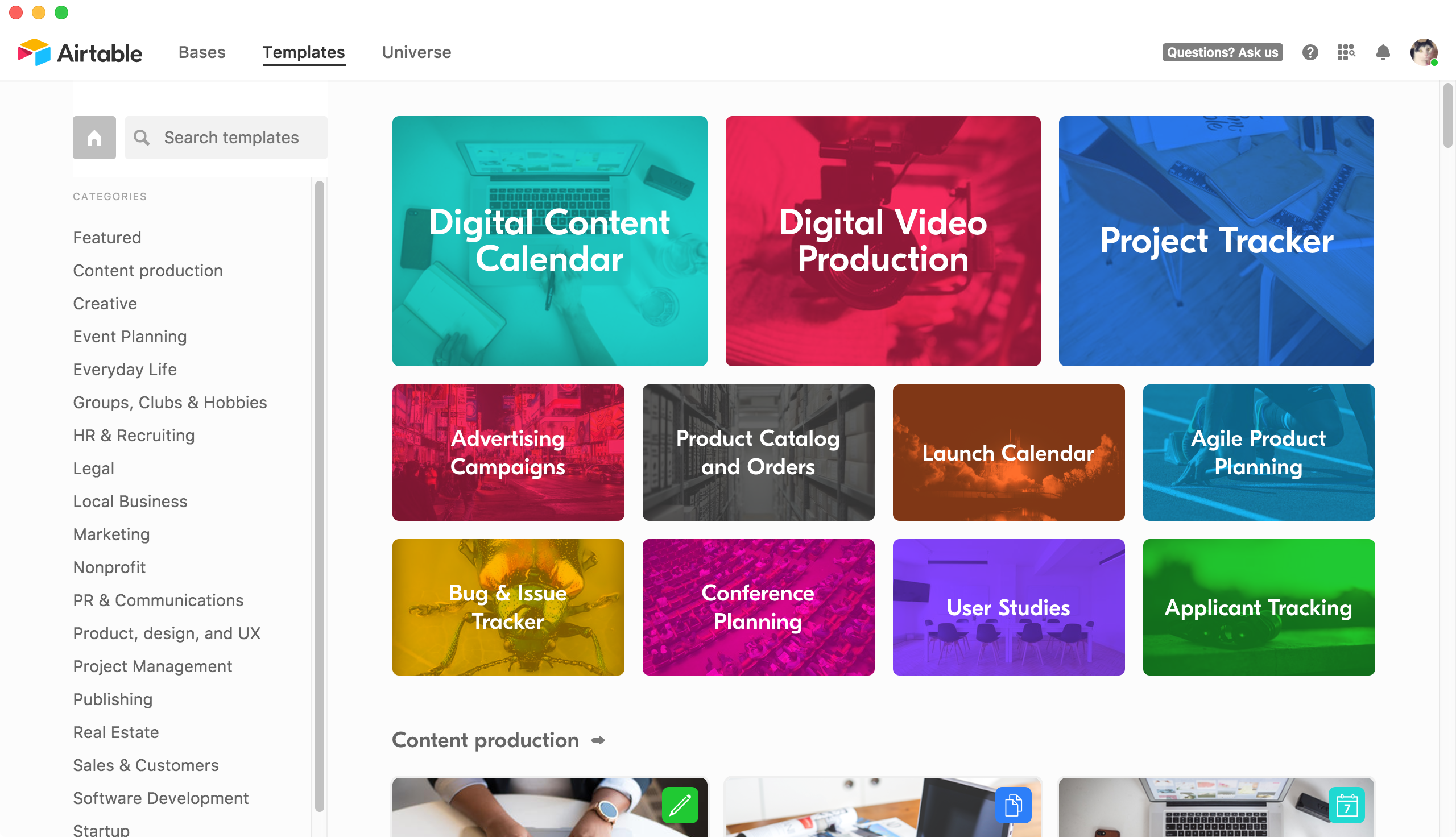Video gallery website template #29535.