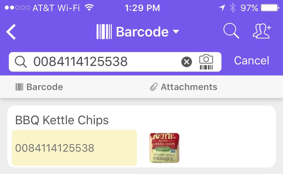 Airtable for mobile: More on the barcode field type