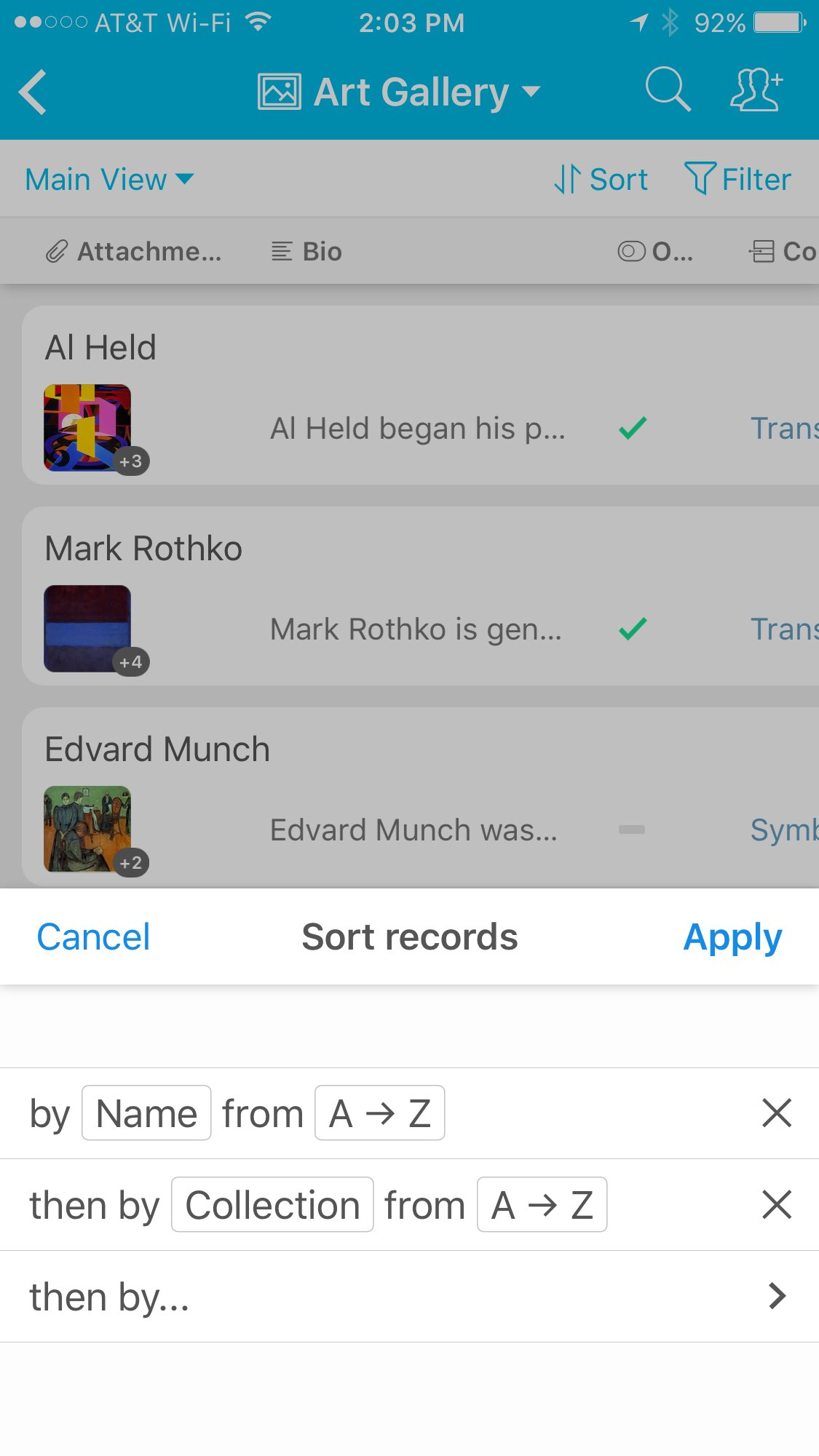 airtable for mobile sorting records airtable support