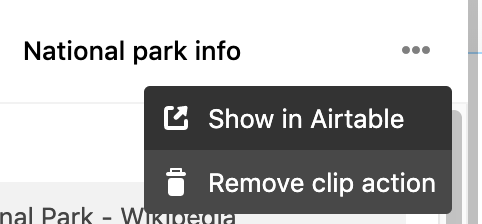 You can remove a clip action from your browser by choosing the Remove clip action from the clip action menu.